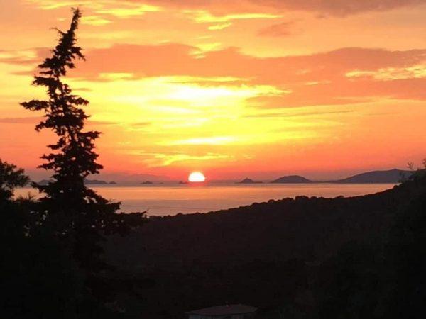 coucher soleil corse